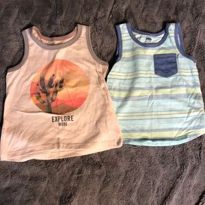 Set of 2- boys summer tanks